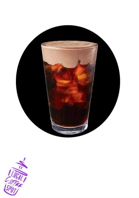Cold Brew with Dark Cocoa Almond Milk Foam